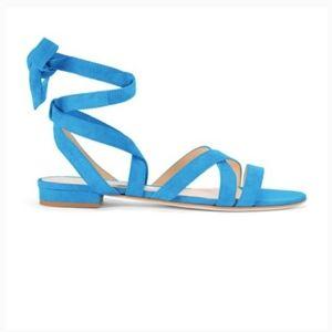 Gorgeous suede M. Gemi blue sandals
